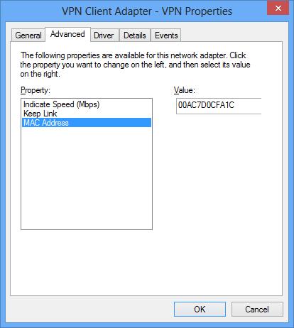 windows 7 virtual network adapter mac address